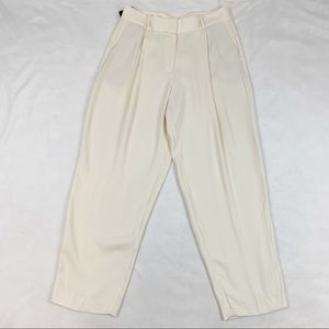 Massimo Dutti high rise pleated front pants